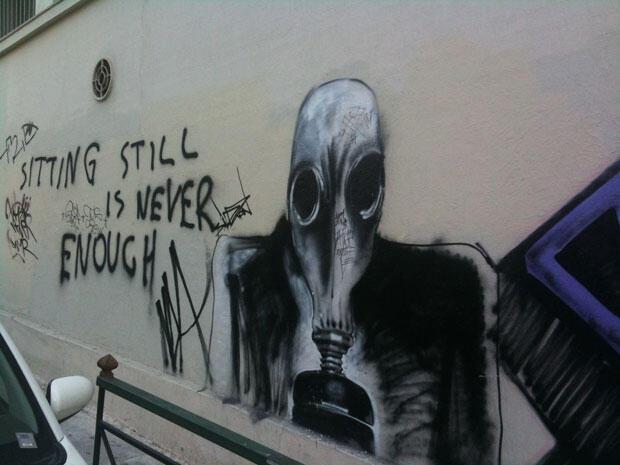 Atina sokaklarından graffiti çalışmaları